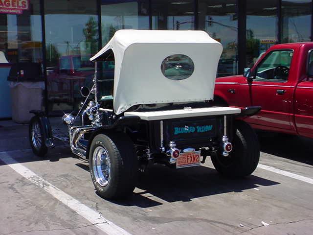right rear of <br>23 T bucket roadster