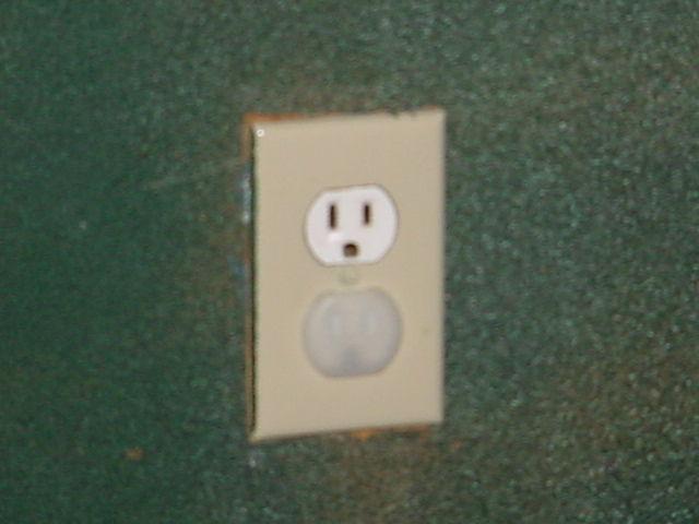 wall plug in the wall