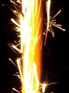 Firework on my mom b-day cake