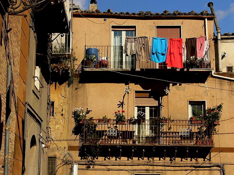 balconies in Piazza Armerina