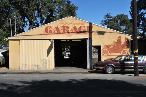 Old-Style Garage at Town of Yountville