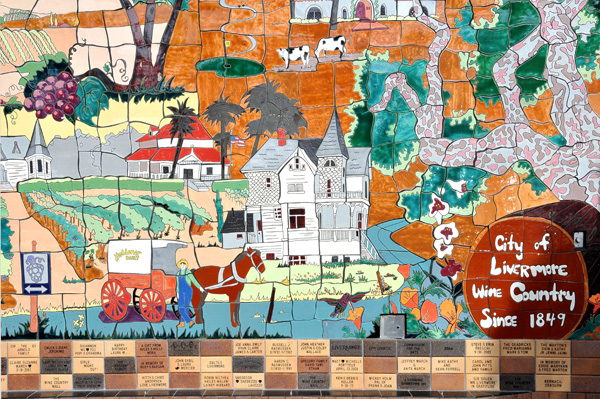 Mural Depicting Town of Livermore
