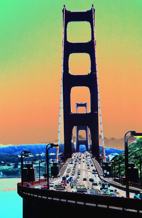 Golden Gate Bridge, en route to Sausalito, CA.