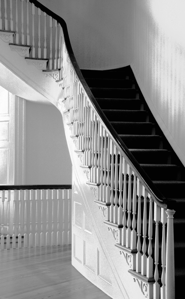 Stairs in Jeffersons Monticello Home.