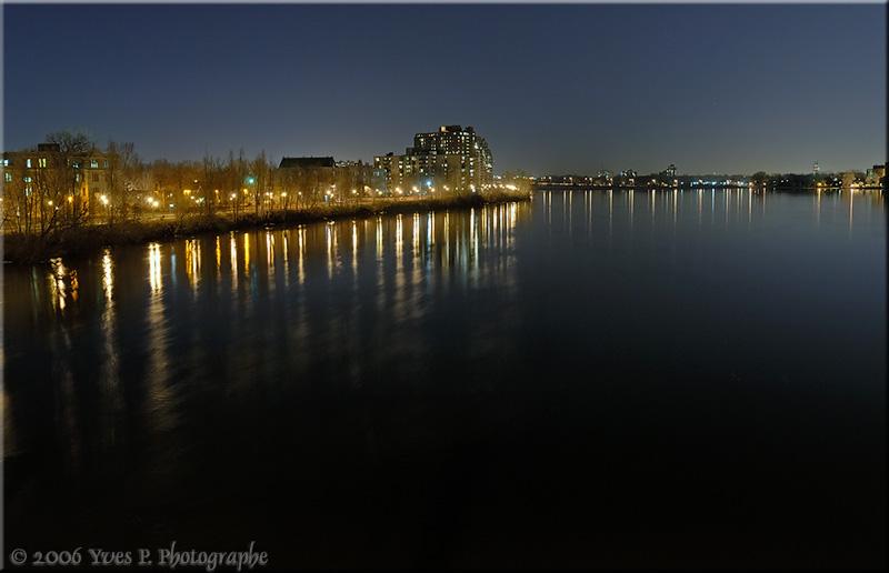 Cityscape at night ...