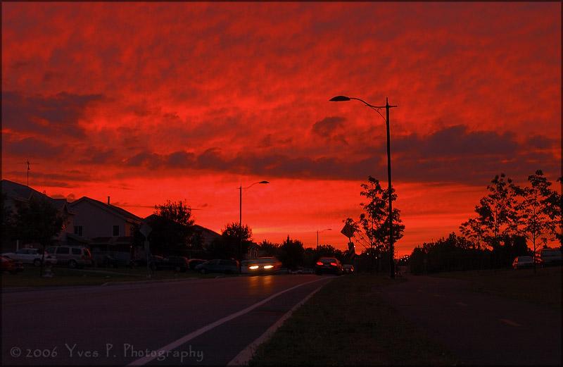 Heavens on fire ...