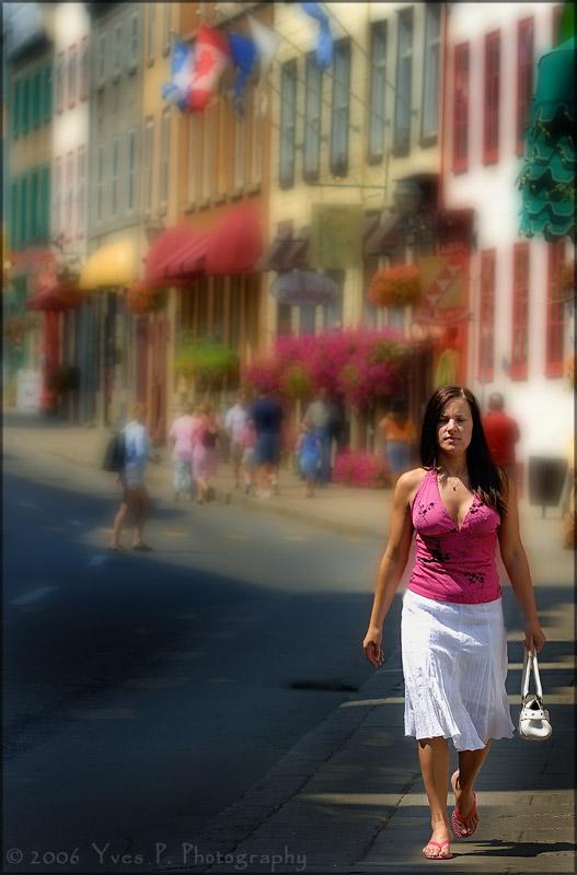 Walking down the street ...