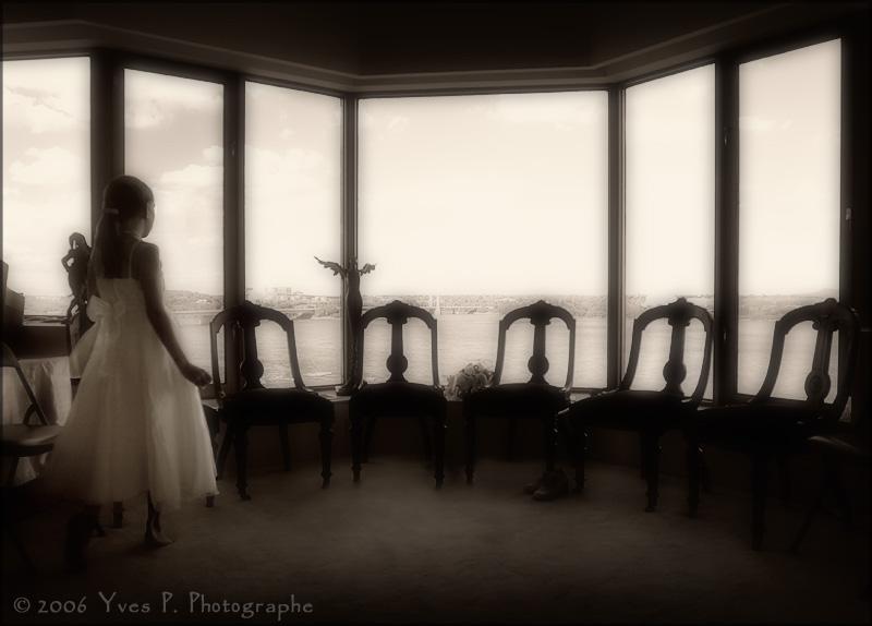 Facing the window ...