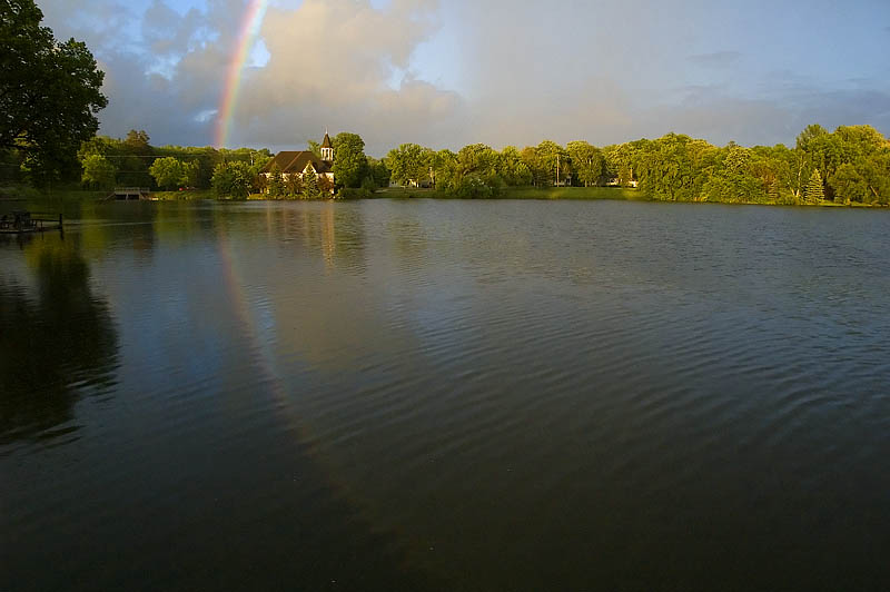 Mill Pond Rainbow Reflections  [6]