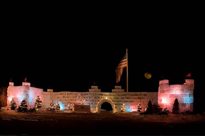 2008 Winterfest Ice Castle (Night View) II  ~  January 24  [15]