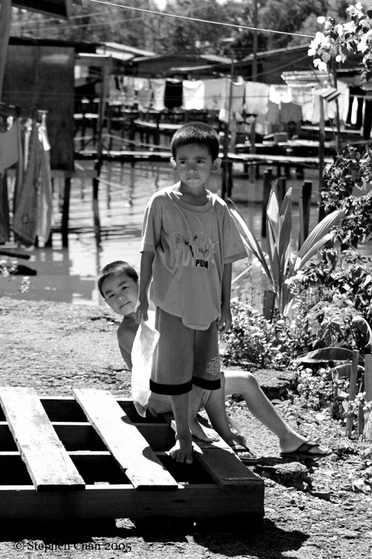 Water village kids.