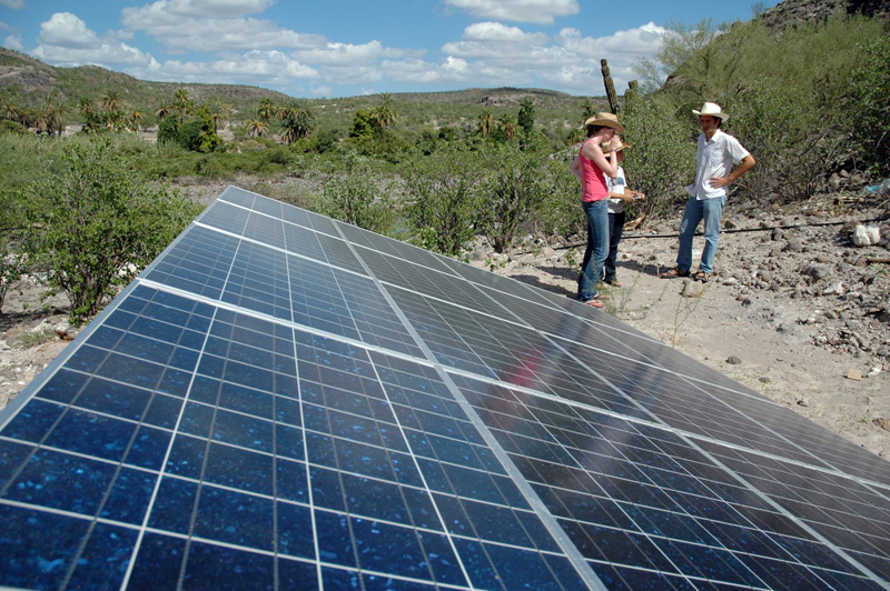 Solar Panels power UV Tubes in Mexico
