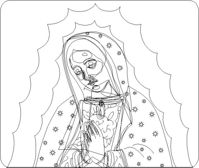 Virgen in wireframe