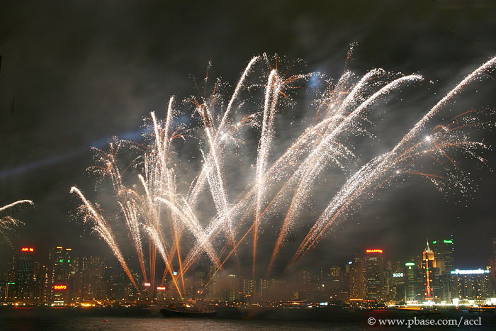 Fireworks at the Victoria Harbour
