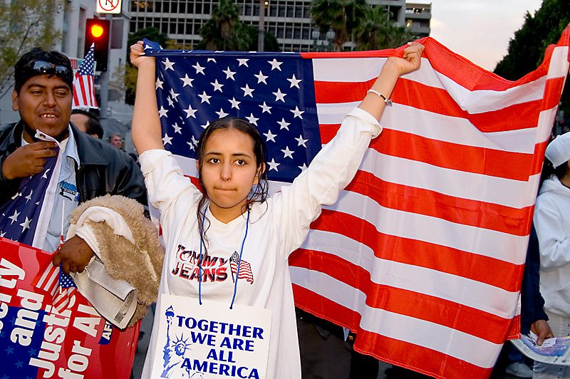 California - Los Angeles - Immigrant Rights Rally