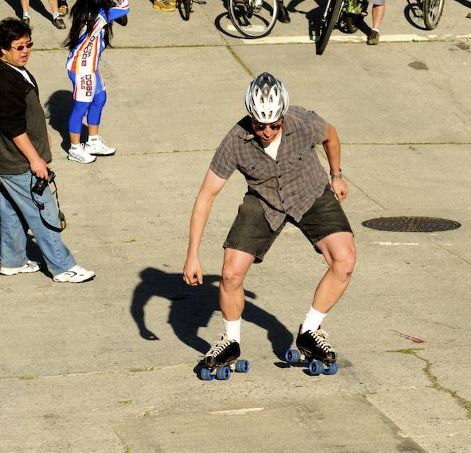 One of Two Skaters (Both Made It)