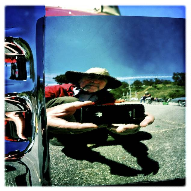 Self Portrait in a Bumper, Cambria