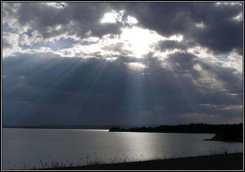 God Light On Yellowstone Lake