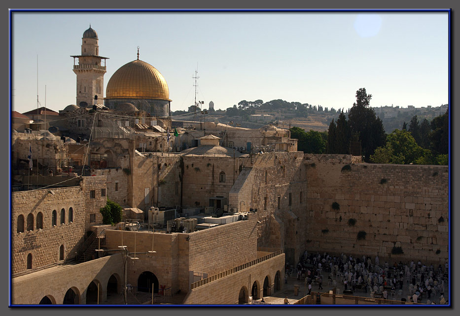 The Wailing Wall in the morning