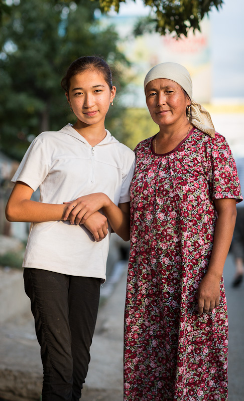 Mother and daughter - Kyrgyzstan
