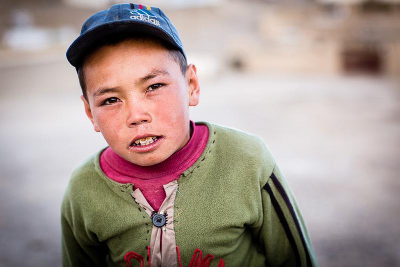 Portrait of Kyrgyz boy - Tajikistan
