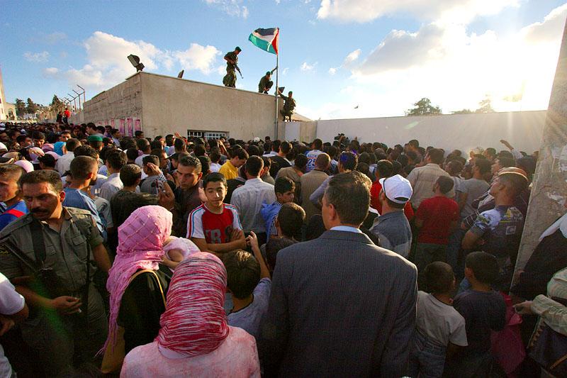 Celebrating Gaza pullout- Ramallah