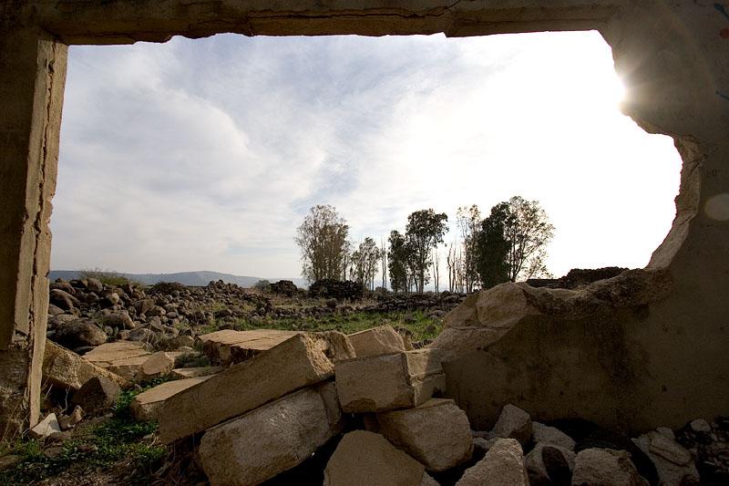 Destroyed Syrian village