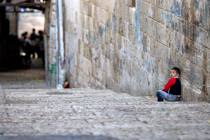 Upset boy - Jerusalem