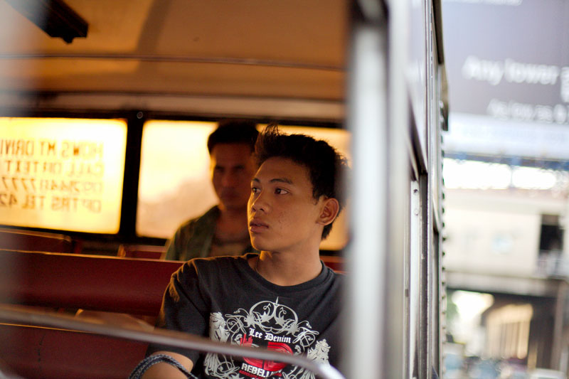 Man on bus - Manila