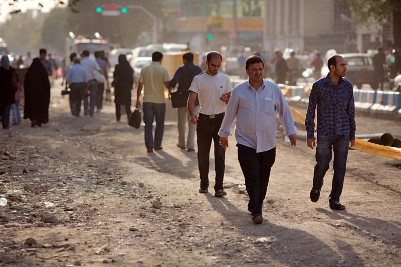 Men walking - Tehran