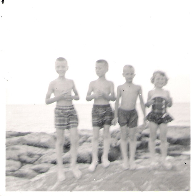 Kids on the Jetty - 1956