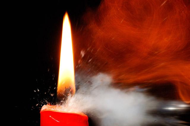 Bullet through candle part 4