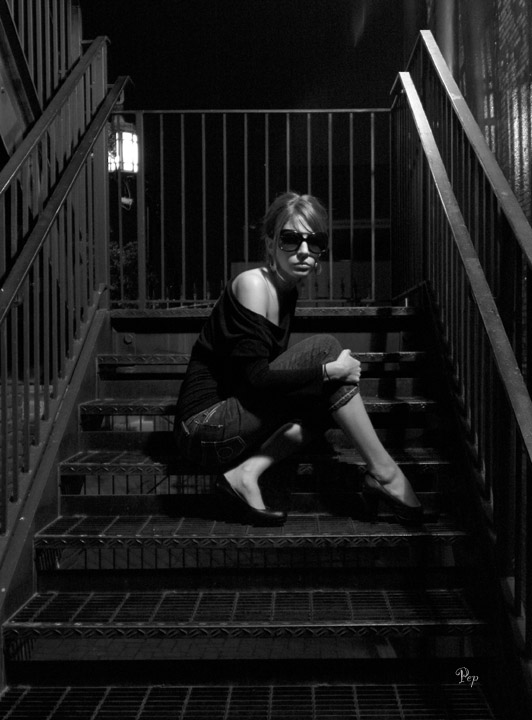 Jess on the Fire Escape