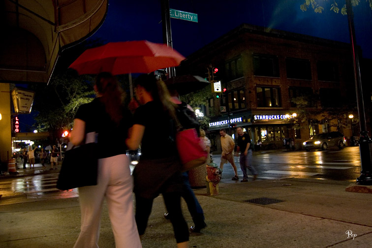 Aug. 24, 2006 - Rainy night in Ann Arbor
