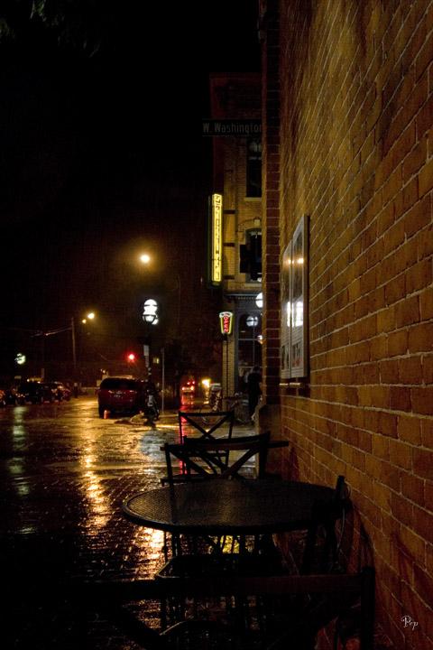 Rainy Night in Ann Arbor