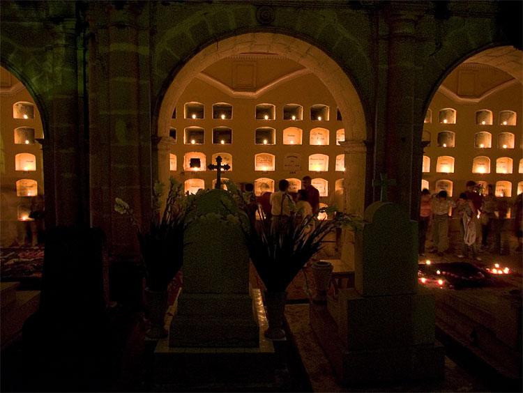 Crypts, San Miguel Cemetery, Oaxaca.
