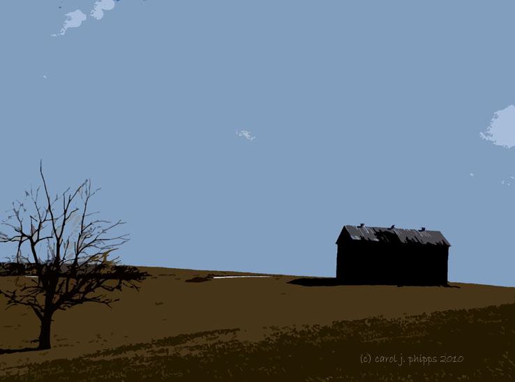 A Tree and a Barn.
