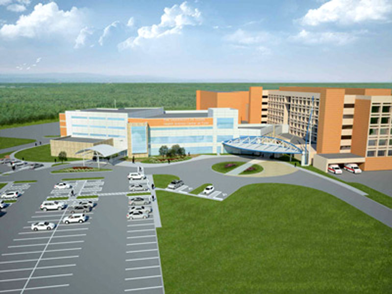 Artist concept Aerial View of Education Wing