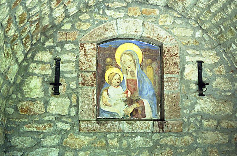 Stone Altar where St. Francis said Mass