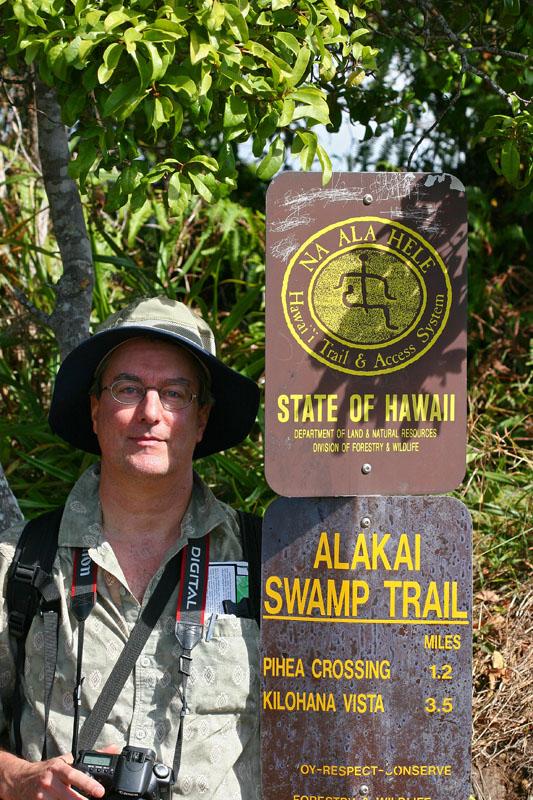Peter hiking in Kauiai