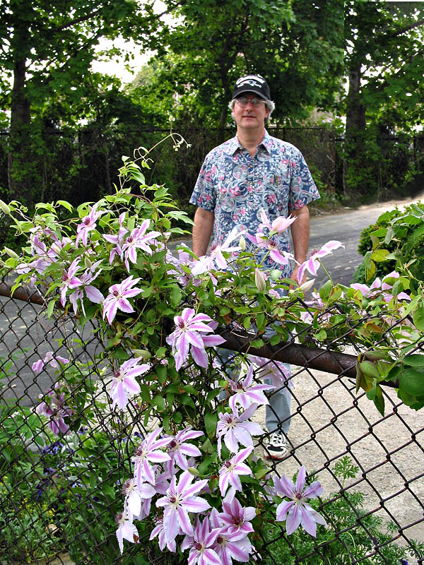 Peter with Clematis