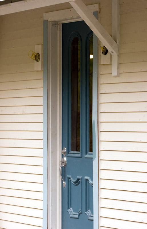Front door with trim