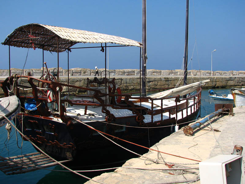 Boat in Kyrenia Harbor
