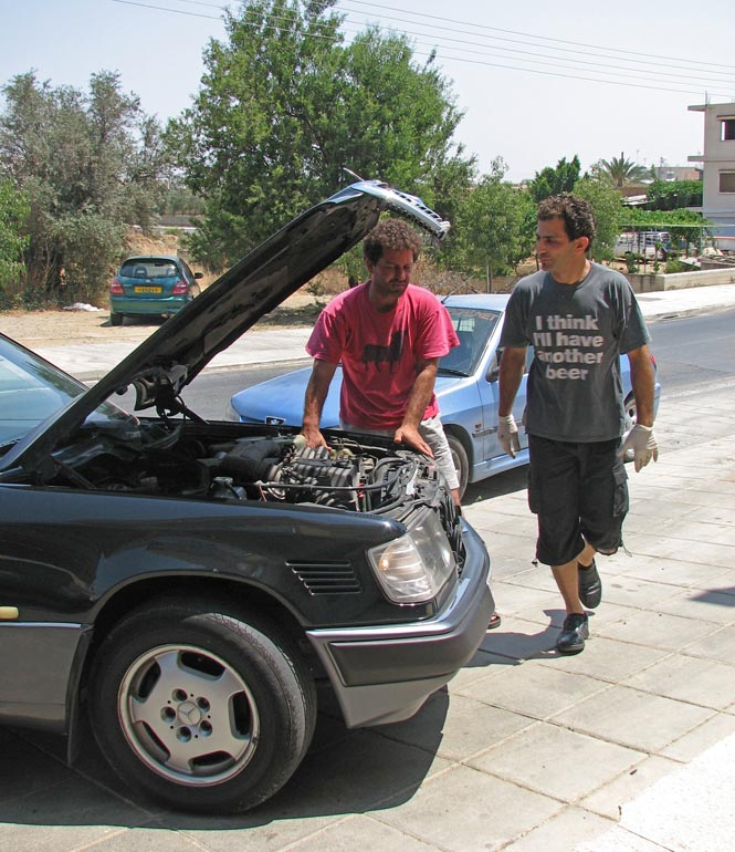 Breakdown near Nicosia