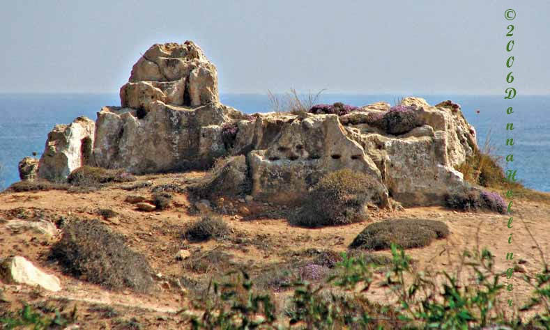 Rocky outcrop by the Mediterranean