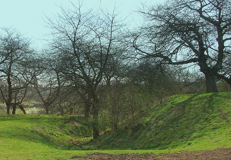 Stockbury Castle; the bailey ditch