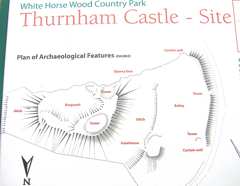 Thurnham  Castle : a plan of the remains