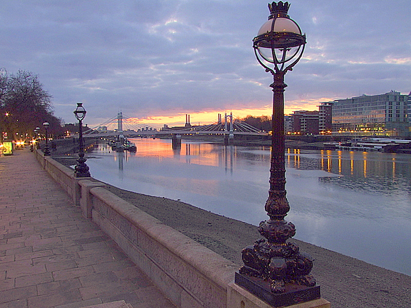 The Thames from Chelsea Embankment