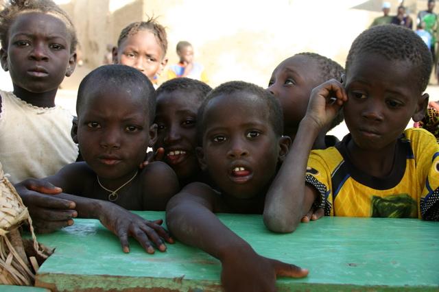 village children, banks of river niger
