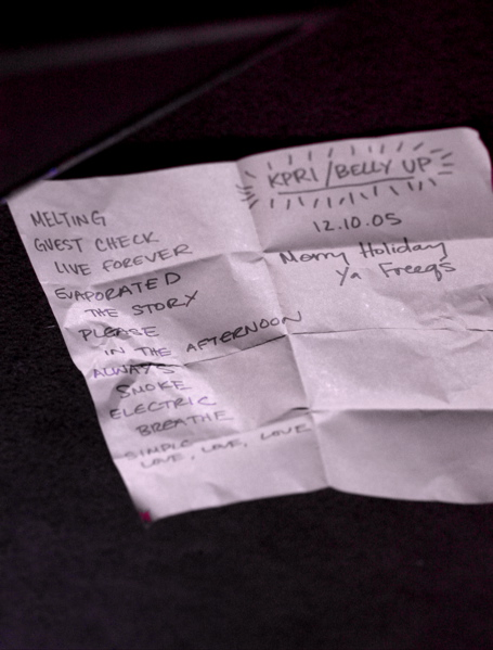 Holiday Show Set List - 2005